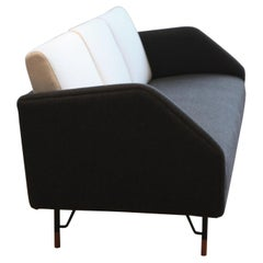 Finn Juhl 3-Seat 77 Sofa Couch, Wood and Fabric