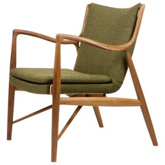 Finn Juhl 45 Chair 1945 Teak, Rami Green
