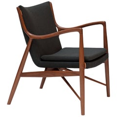 Finn Juhl 45 Chair 1945 Walnut, Remix Grey