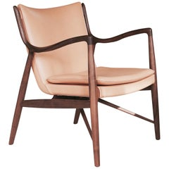 Finn Juhl 45 Chair Walnut, Beige Leather
