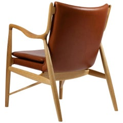Finn Juhl 45 Chair, Wood and Leather by House of Finn Juhl