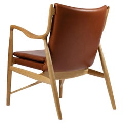 Finn Juhl 45 Chair Wood Leather