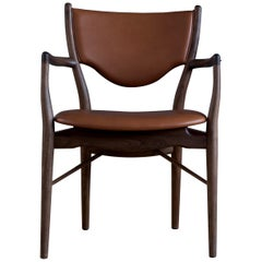 Finn Juhl 46 Chair Armrests, Walnut, Elegance Walnut