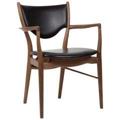 Finn Juhl 46 Chair Armrests, Walnut, Elegance Black