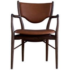 Finn Juhl 46 Chair Armrests, Walnut, Elegance Walnut