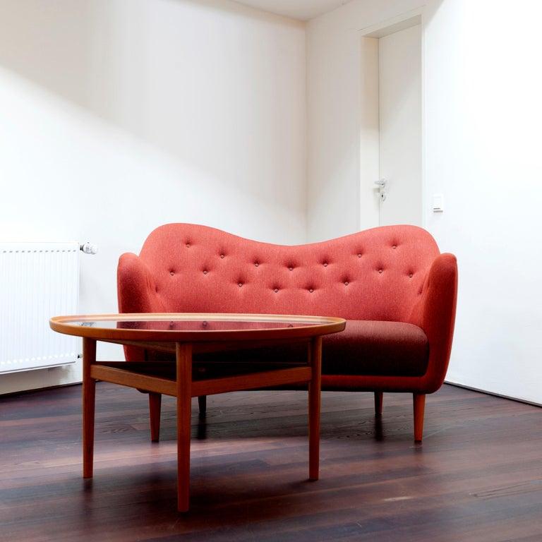 Finn Juhl 46 Sofa Couch Green Fabric Cutout For Sale 4