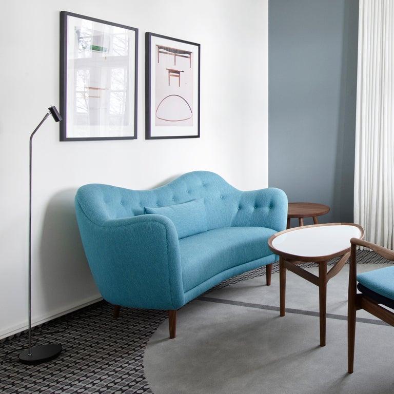 Finn Juhl 46 Sofa Couch Green Fabric Cutout For Sale 5
