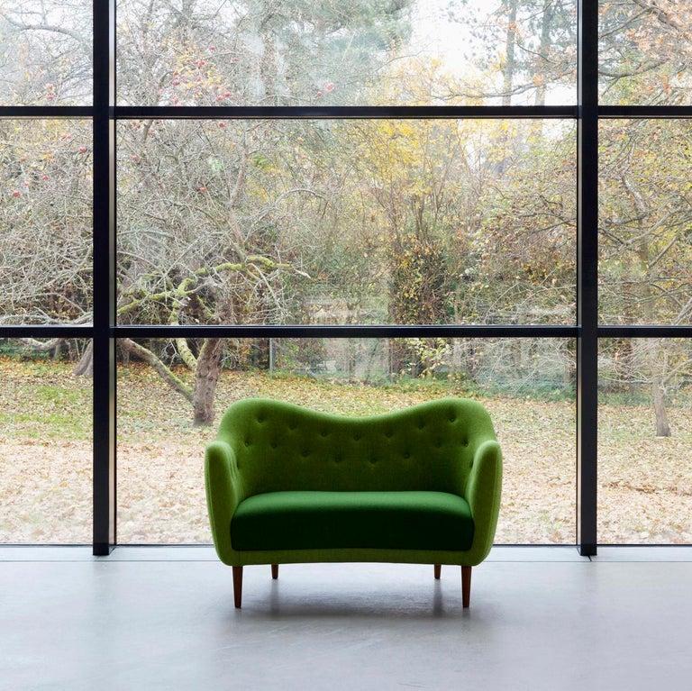 Finn Juhl 46 Sofa Couch Green Fabric Cutout For Sale 1