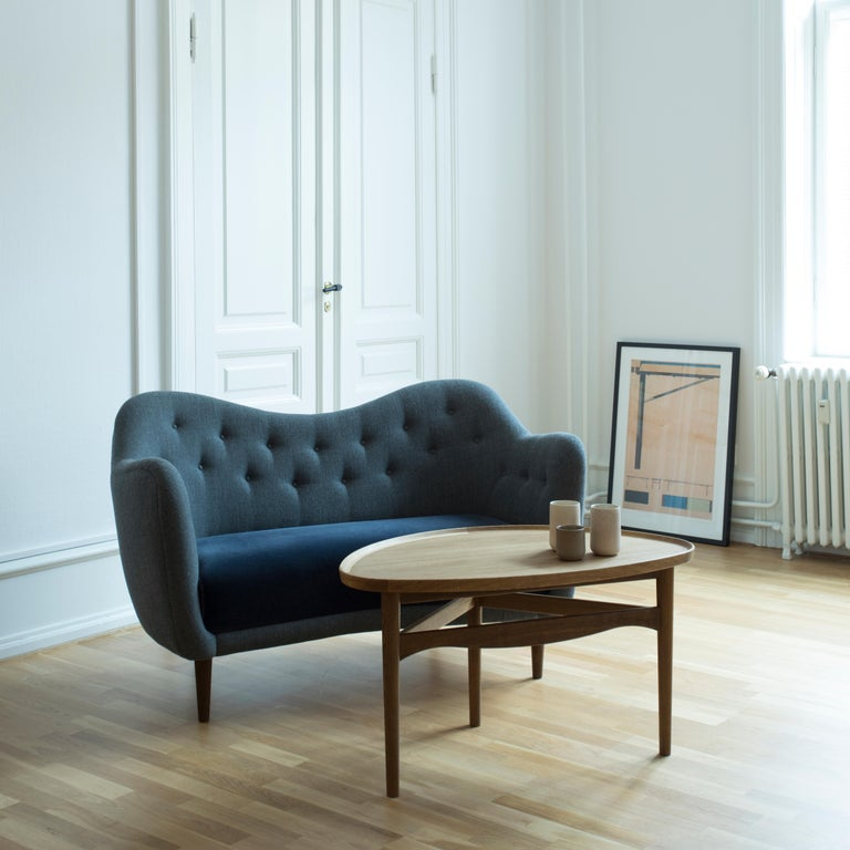 Finn Juhl 46 Sofa Couch Green Fabric Cutout For Sale 3