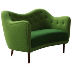 Finn Juhl 46 Sofa Couch Green Fabric Cutout
