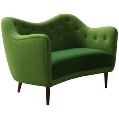 Finn Juhl 46 Sofa Couch Green Fabric Cutout