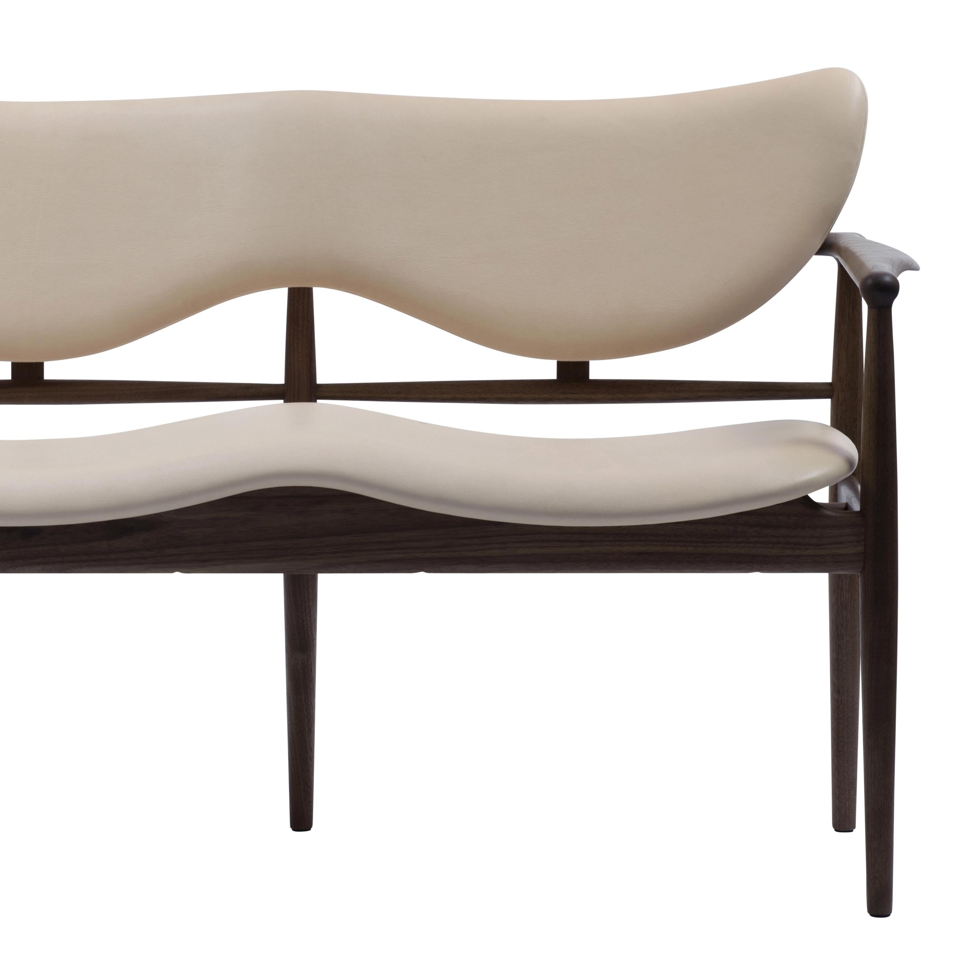 Peachy Finn Juhl 48 Sofa Bench 1948 Walnut Leather Vegetal Nature Pabps2019 Chair Design Images Pabps2019Com
