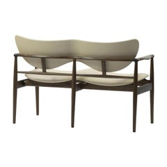Finn Juhl 48 Sofa Bench Walnut, Leather Vegetal Nature