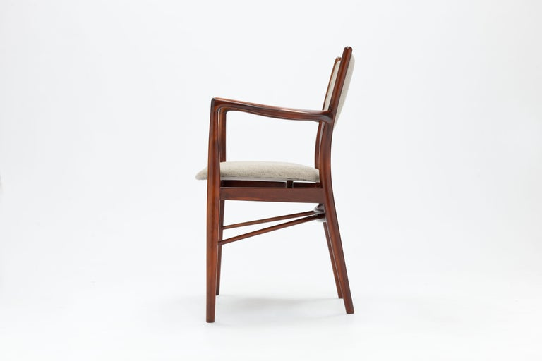 Stained Finn Juhl Armchair BO-46 in Original Savak Fabric For Sale