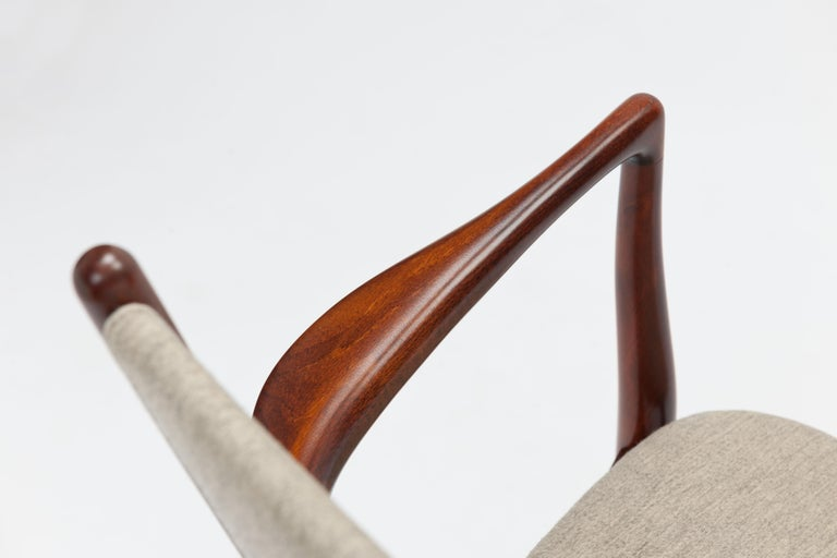 Finn Juhl Armchair BO-46 in Original Savak Fabric For Sale 1