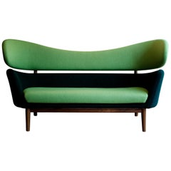 Finn Juhl Baker Sofa Couch Halk fabric, 1951