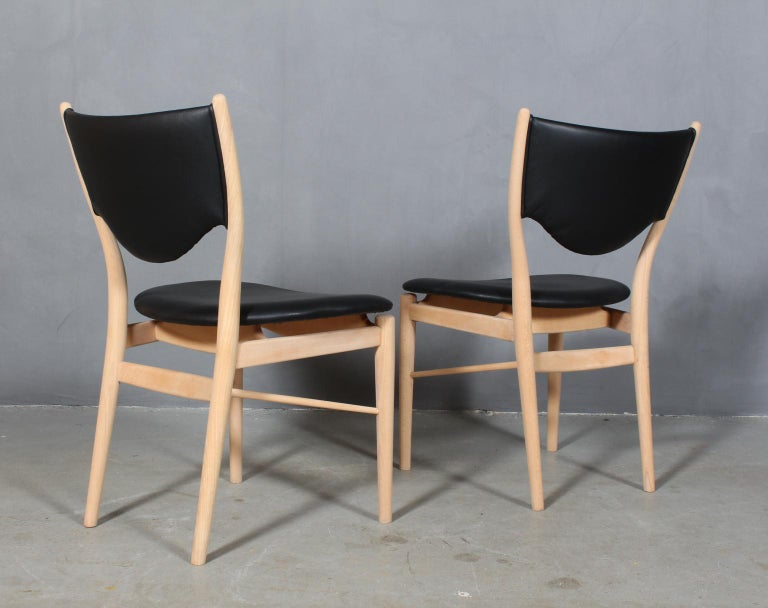 Leather Finn Juhl BO 63 'NV 64' Chair, Bovirke, Denmark, 1950s For Sale
