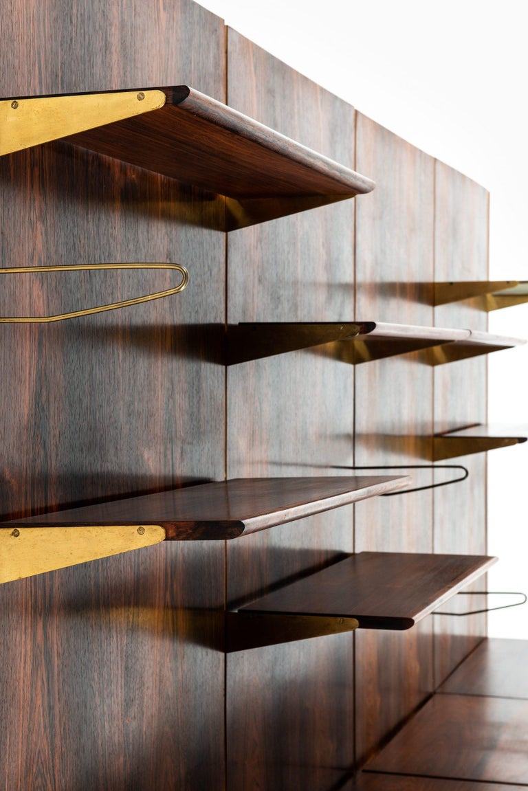 Brass Finn Juhl Bookcase Produced by Bovirke in Denmark For Sale