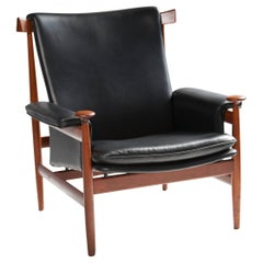 "Finn Juhl ""Bwana"" Model 152 Teak and Leather Armchair by France & Son"
