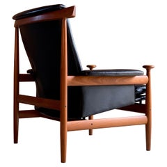 "Finn Juhl ""Bwana"" Teak and Leather Lounge Armchair Model 152 by France & Son"