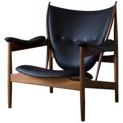 Finn Juhl Chieftain Armchair, Wood and Leather Elegance Black