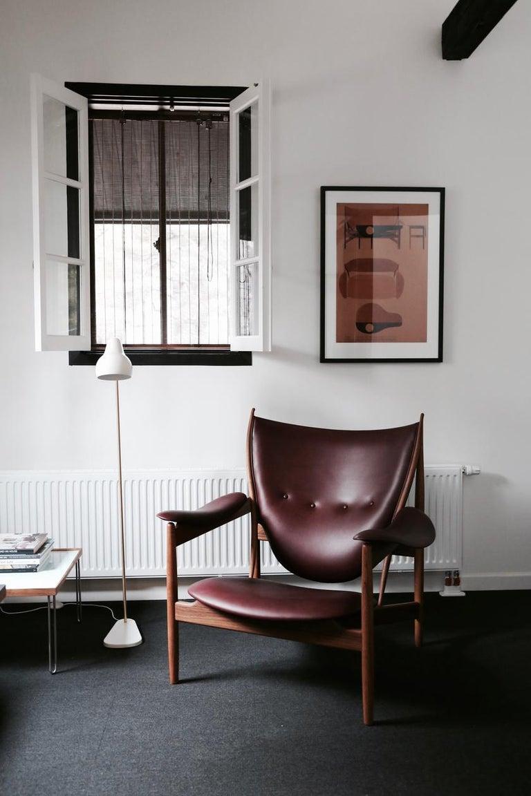 Modern Finn Juhl Chieftain Armchair Wood and Leather For Sale