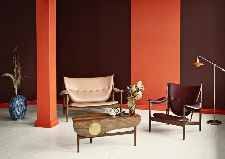 Finn Juhl Chieftain Armchair Wood and Leather In New Condition For Sale In Barcelona, Barcelona