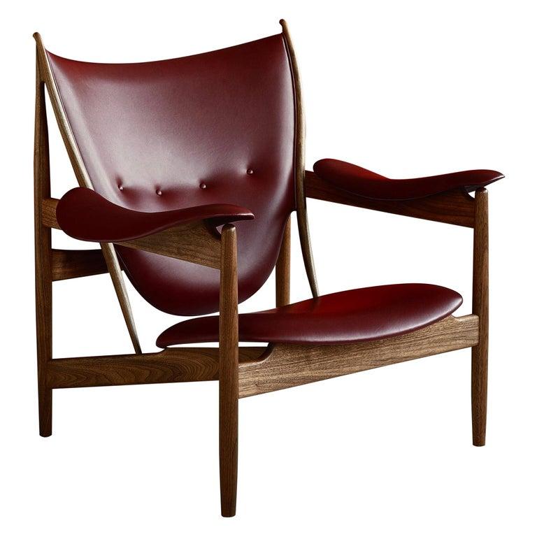 Finn Juhl Chieftain Armchair Wood and Leather For Sale