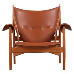 Scandinavian Modern Finn Juhl Chieftain Brown Chair in Teak