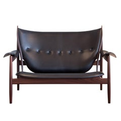 Finn Juhl Chieftain Sofa Couch Rosewood Elegance Black