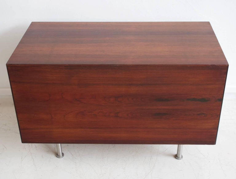 1960 Finn Juhl Commode Six Drawers Manufactured by Cado Rosewood and Steel Legs For Sale 4