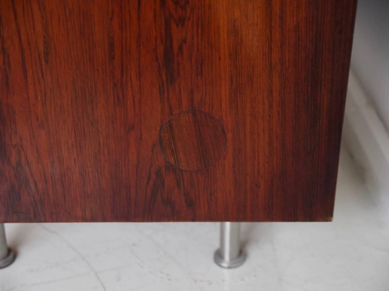 1960 Finn Juhl Commode Six Drawers Manufactured by Cado Rosewood and Steel Legs For Sale 6
