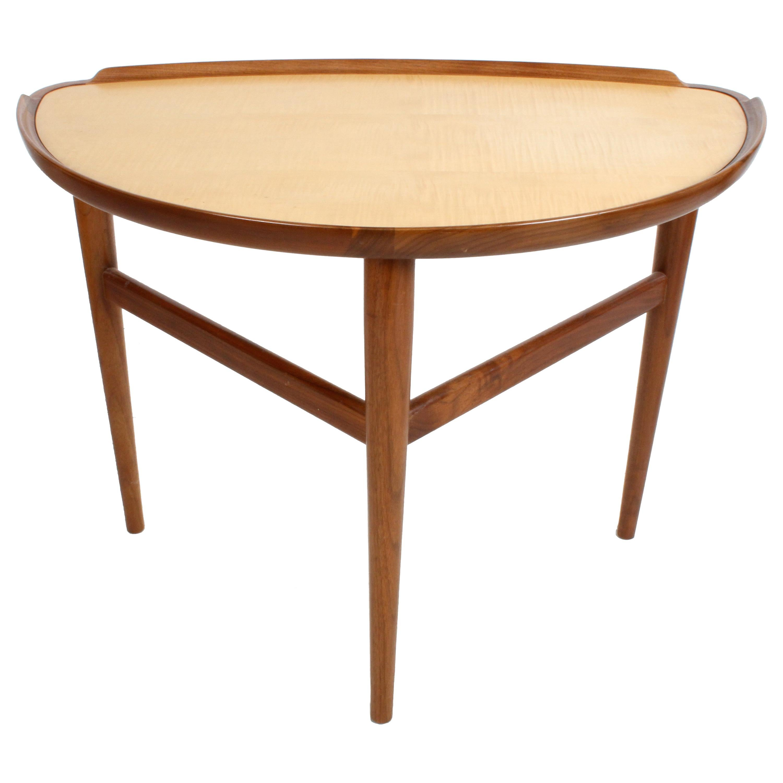 Finn Juhl Danish Modern Design for Baker Furniture Side Table in Walnut