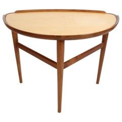 Finn Juhl Danish Modern Design for Baker Furniture Side Table in Walnut