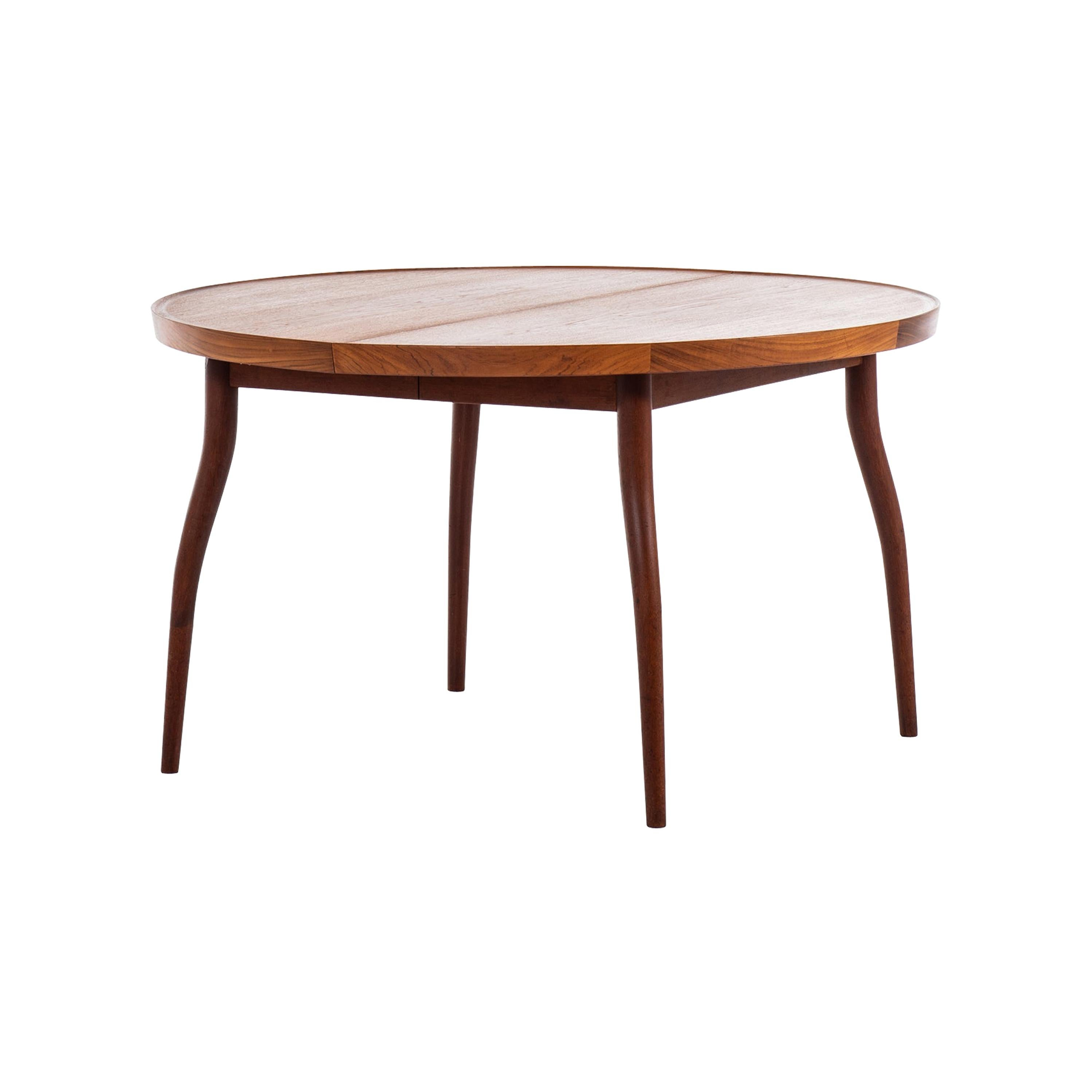 Finn Juhl Dining Table Model NV-56 by Niels Vodder in Denmark