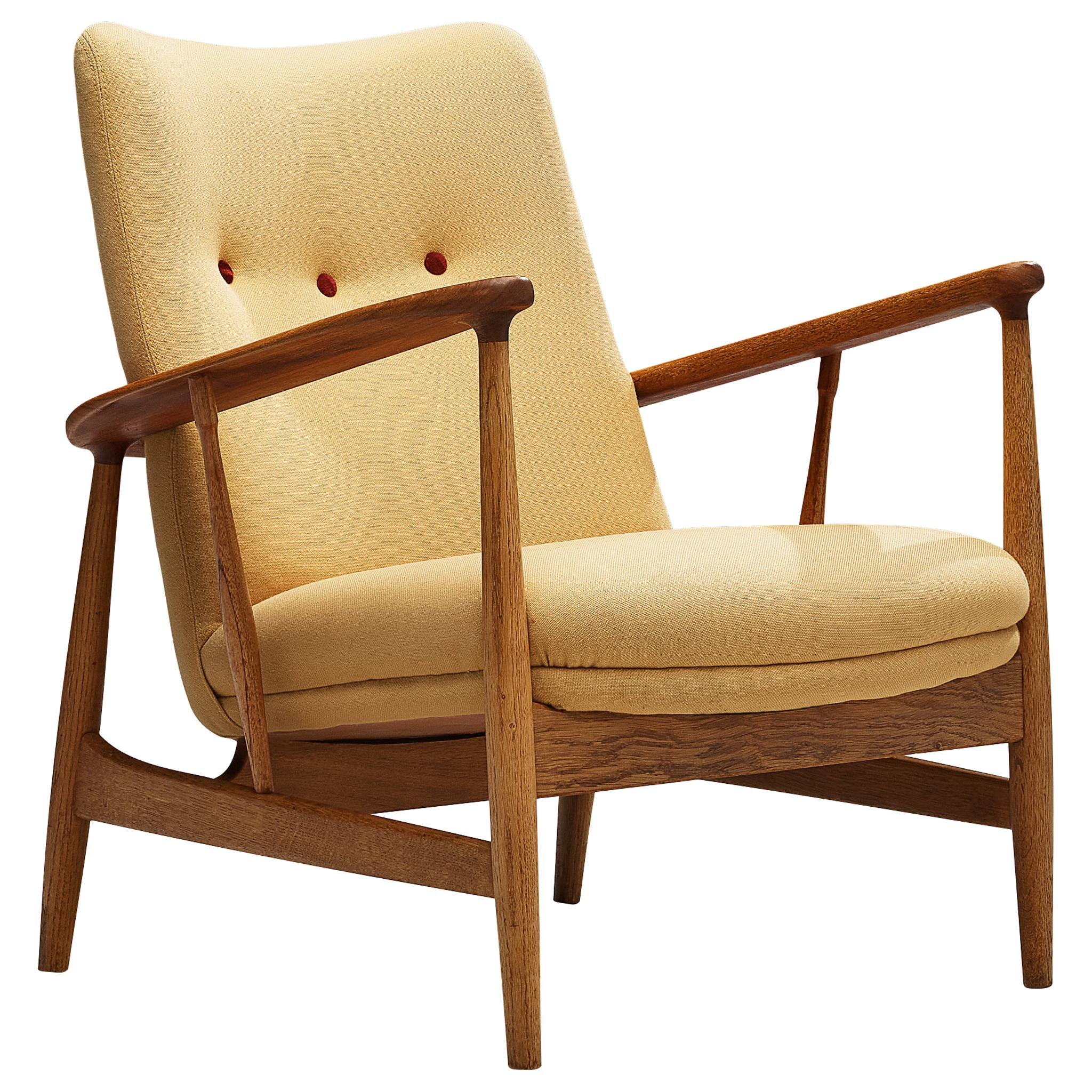 Finn Juhl Easy Chair in Oak and Teak, 1953