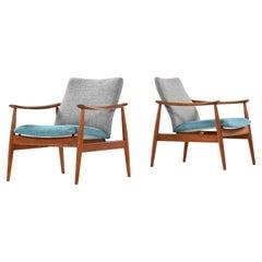 Finn Juhl Easy Chairs Model 138 Produced by France & Son in Denmark