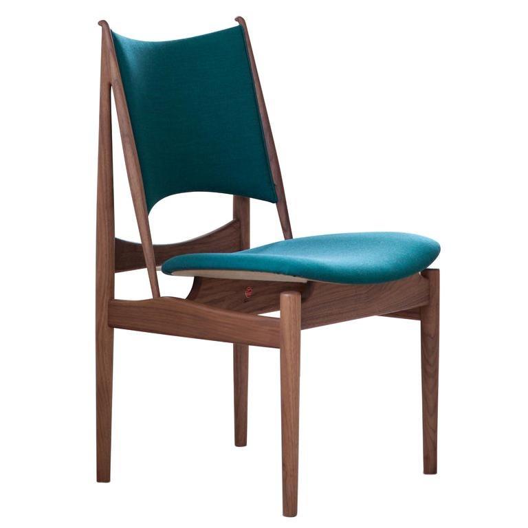 Finn Juhl Egypetian Chair in Wood and Fabric