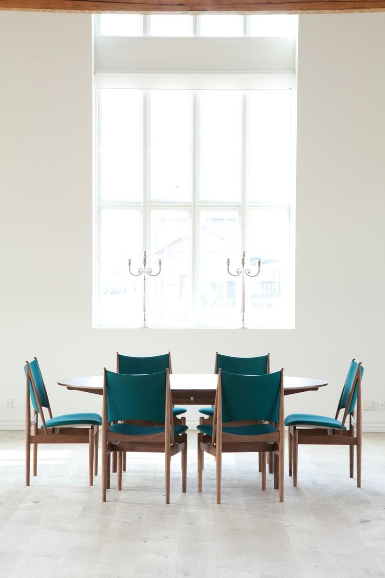 Finn Juhl Egypetian Chair in Wood and Leather For Sale 6