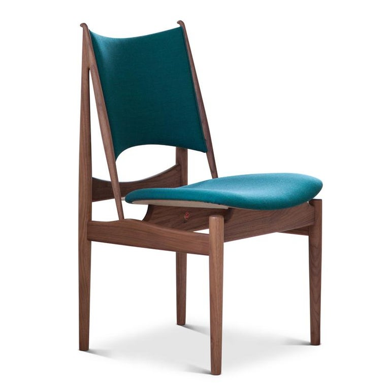 Finn Juhl Egypetian Chair in Wood and Leather For Sale 7