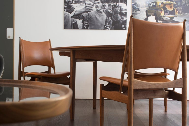 Finn Juhl Egypetian Chair in Wood and Leather For Sale 2