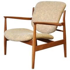 Finn Juhl FD 136 Teak Lounge Chair