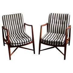 """Finn Juhl, """"Fireplace"""" Chairs, Model BO-59 for Bovirke, Denmark"""