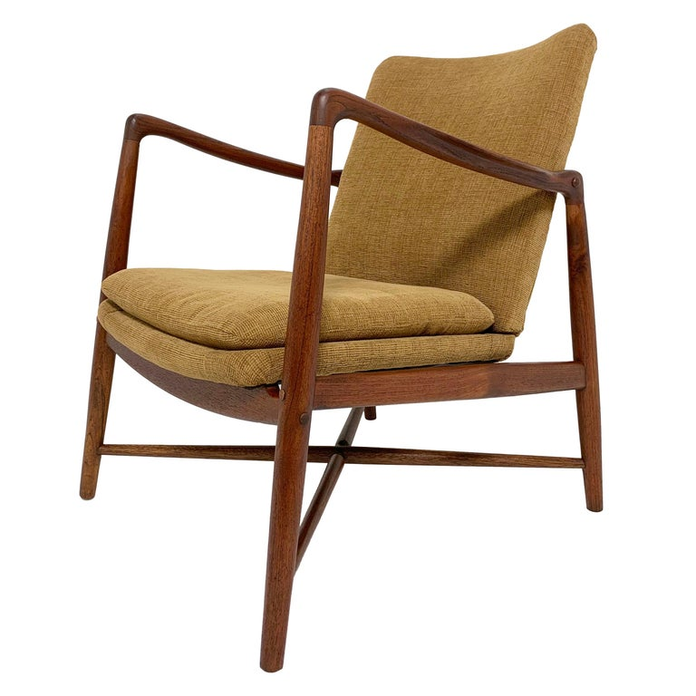 "Finn Juhl ""Fireplace"" Teak Danish Lounge Chair, circa 1950s"