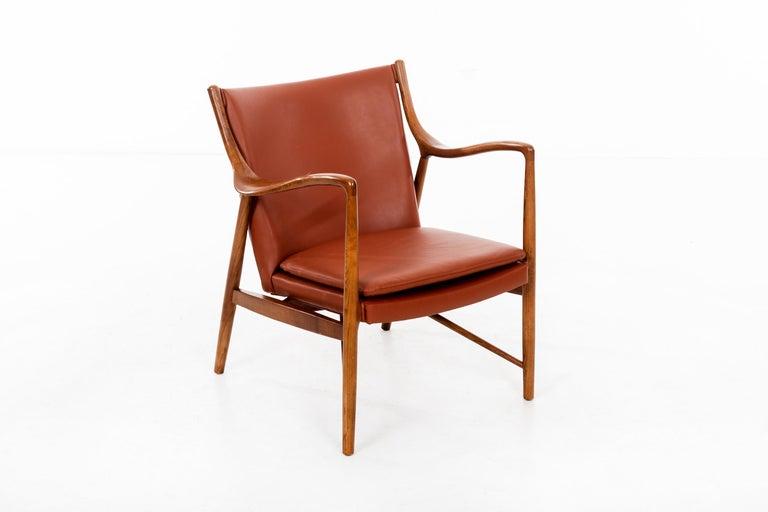 Mid-Century Modern Finn Juhl FJ45 Lounge Chair For Sale