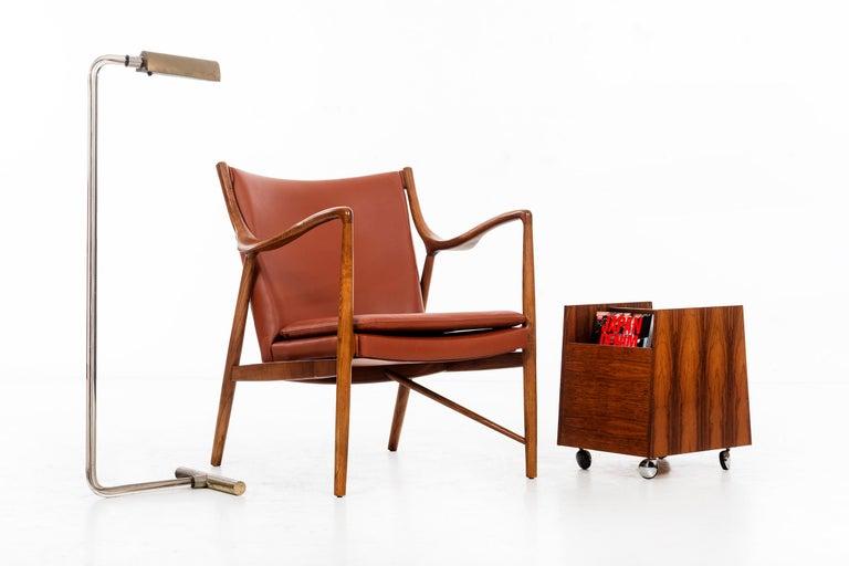 Leather Finn Juhl FJ45 Lounge Chair For Sale