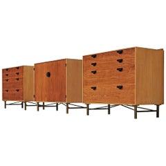 Finn Juhl for Baker Cabinets in Walnut and Maple, 1950s