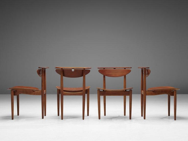 Mid-Century Modern Finn Juhl for Bovirke Set of Four 'Reading Chairs' For Sale