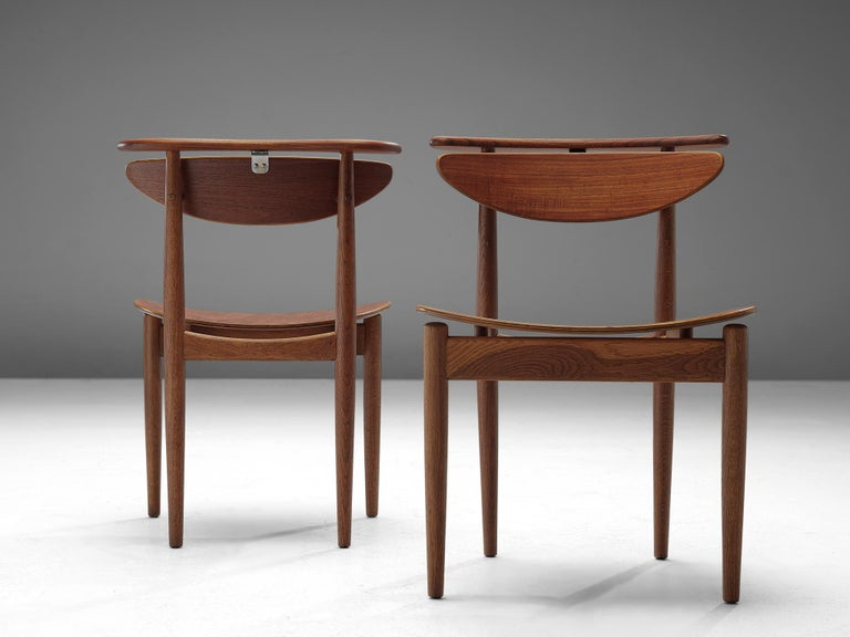 Finn Juhl for Bovirke Set of Four 'Reading Chairs' In Good Condition For Sale In Waalwijk, NL