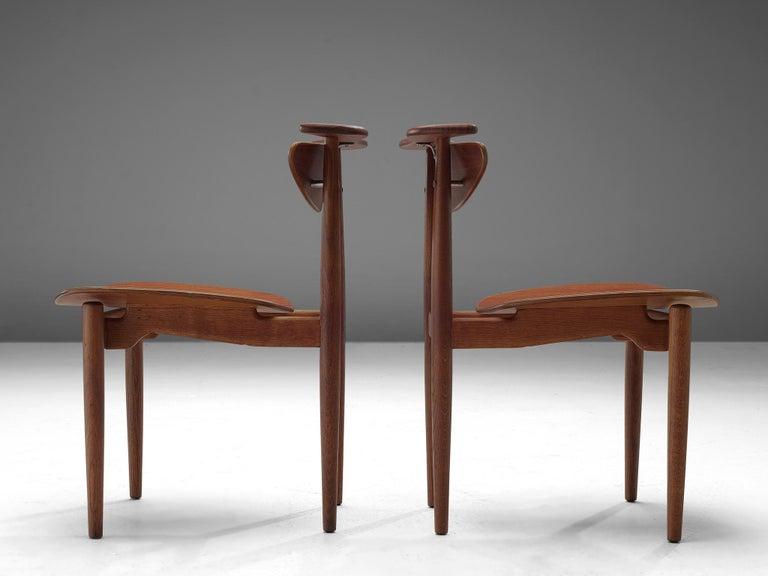 Mid-20th Century Finn Juhl for Bovirke Set of Four 'Reading Chairs' For Sale